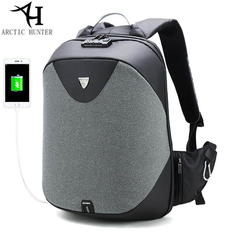 Arctic Hunter Brand Extreme Anti Theft Laptop Backpack Fits Up To 15.6 Computer With Usb Charge Port By Home Of Yiqi.