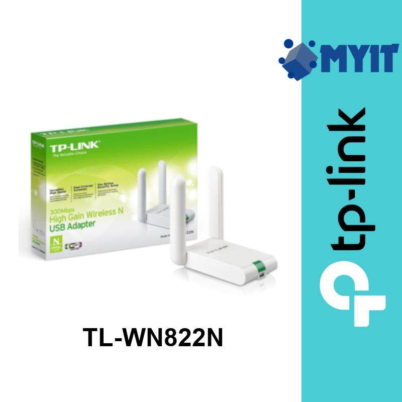 TP-Link TL-WN822N 300Mbps High Gain Wireless 2.4GHz Single Band WiFi USB Network Adapter with 2 Antenna WN822N