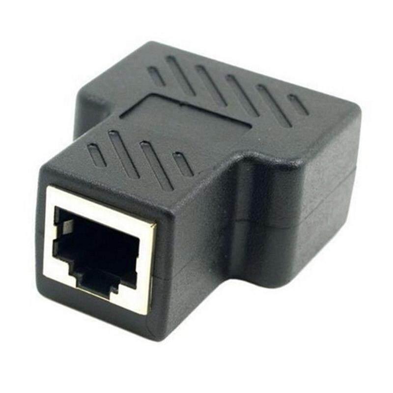 RJ45 Adaptor Splitter 1 Sampai 2 Cara Dual Female Port CAT5/CAT 6 LAN Kabel Eternet