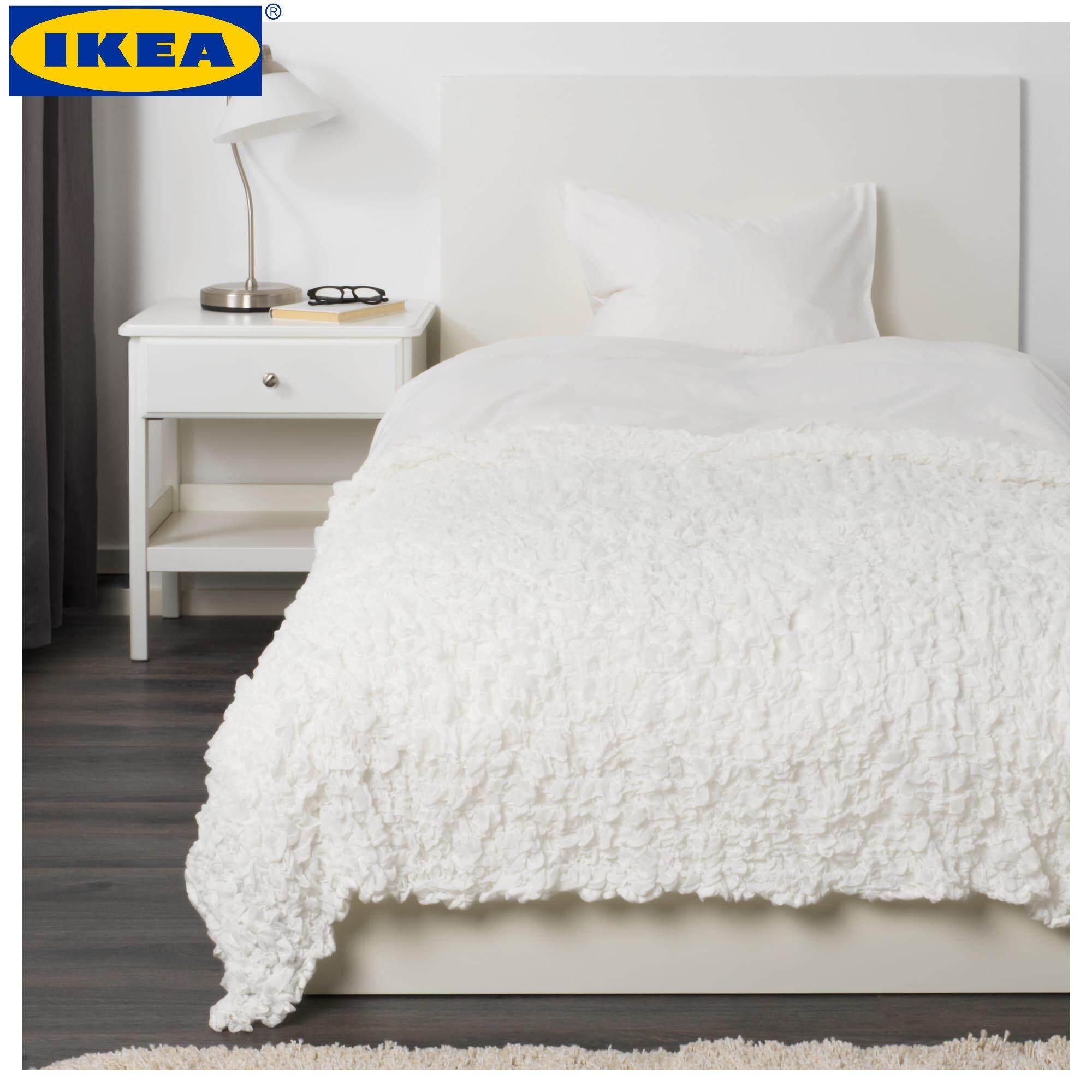 IKEA OFELIA White Blanket (130x170 Cm)