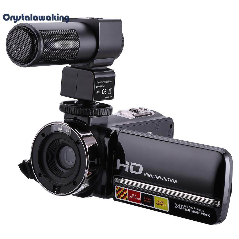 3in LCD Touch Screen Camcorder Remote Control Infrared Night Vision Camera(Black)-AU