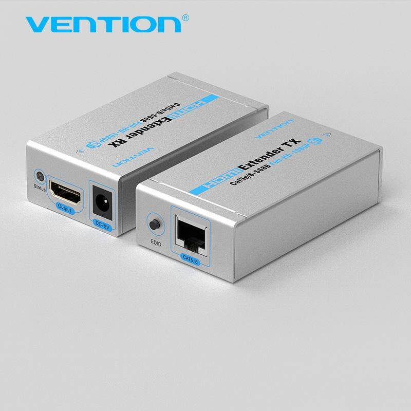 Vention 60 M HDMI Extender TX Launcher Receiver Cat5/6 RJ45 Ethernet HD 1080 P/1080i/ 720 P Double Cat5/6 Dukungan Full HD 3D