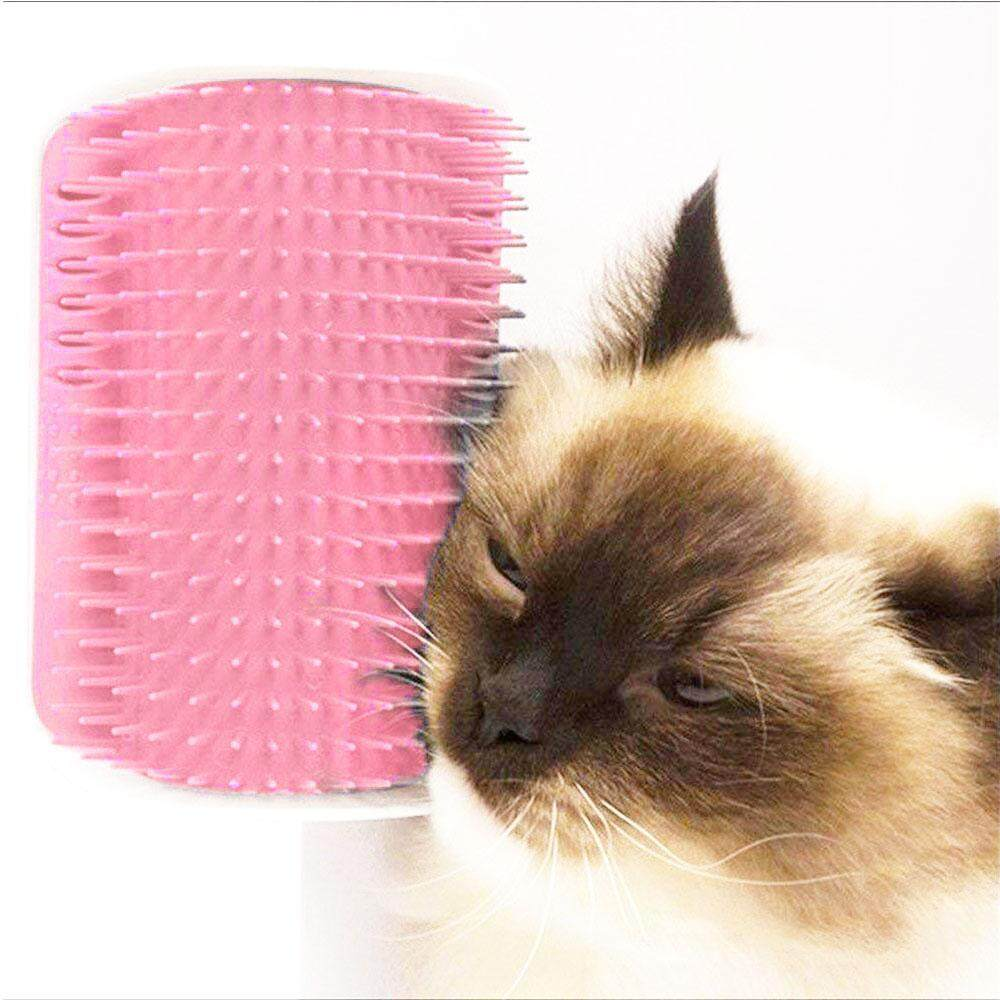 Self Groomer, Cat Corner Groomer Cat Self Groomer With Catnip, Self Groomer Cat Wall Brush For Any Cat Owner, Perfect Cat Massager Tool For Long & Short Fur Cats/dogs/horses By Ltplaza.