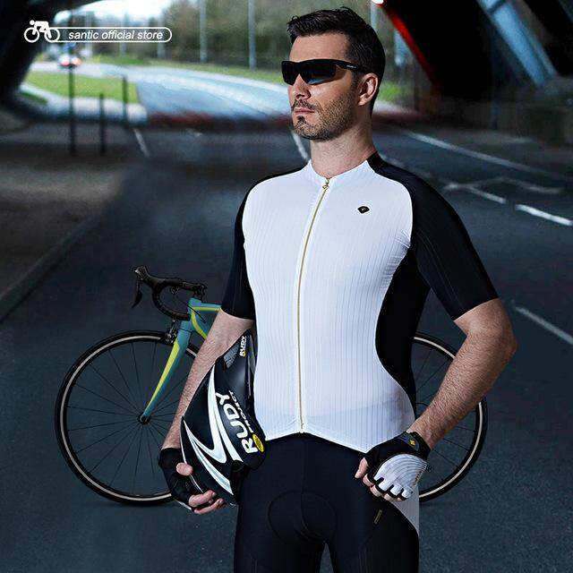341074b07 Santic Men Cycling Short Jersey Extreme Fit Imported Water Diffusible Fabric  Road Bike Short Sleeve Cycling