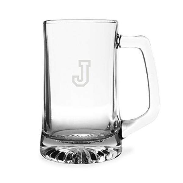 61312ddec8b Coffee Cups & Mugs Cathys Concepts Personalized Sports Beer Mug, Letter J -  intl