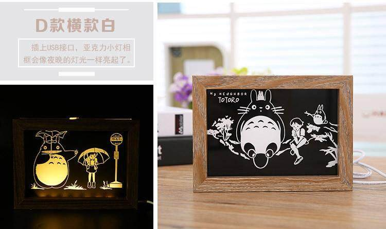 Totoro Photo Frame With Night Lamp 4