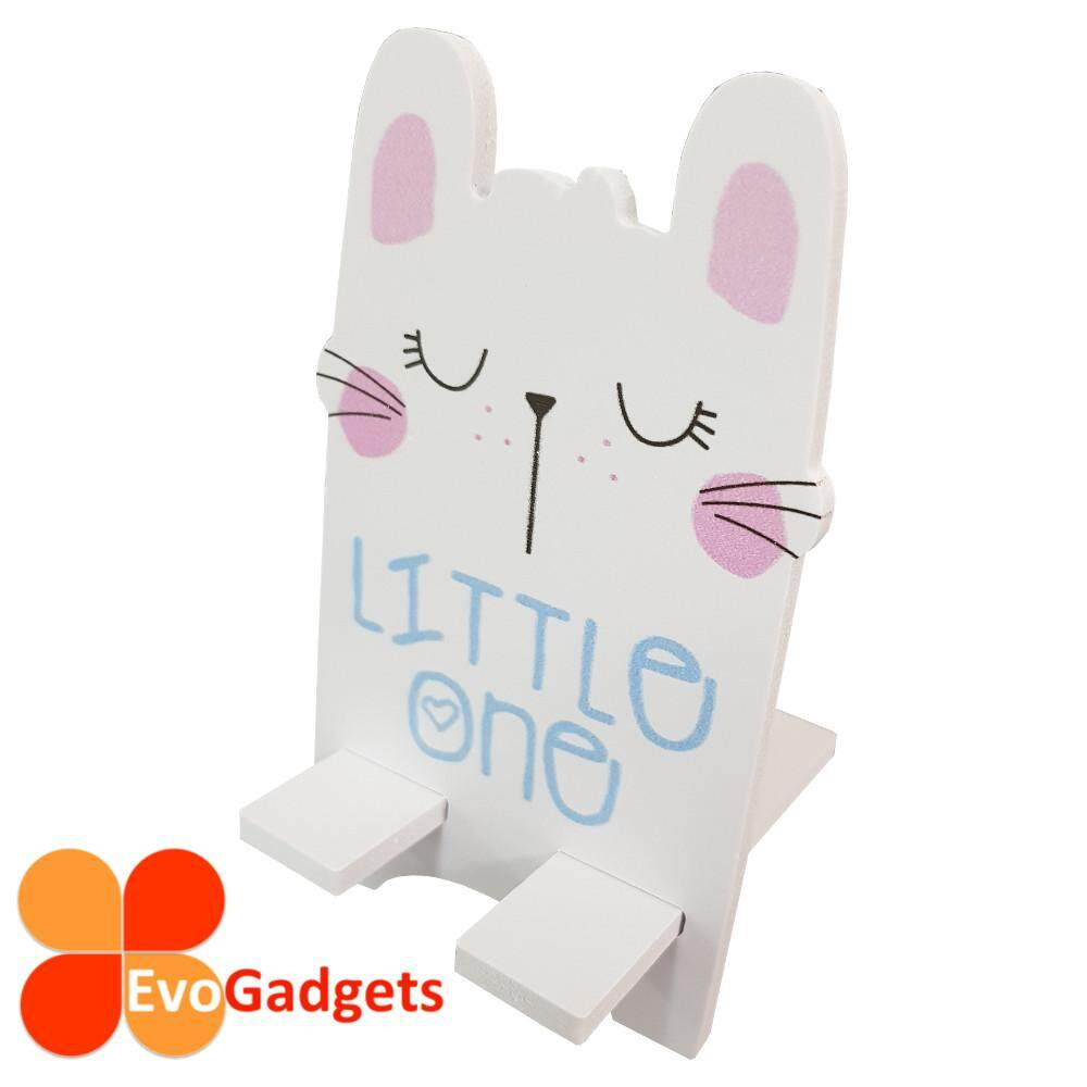 EvoGadgets Portable Wooden Cartoon Phone Stand or Holder (Cat)