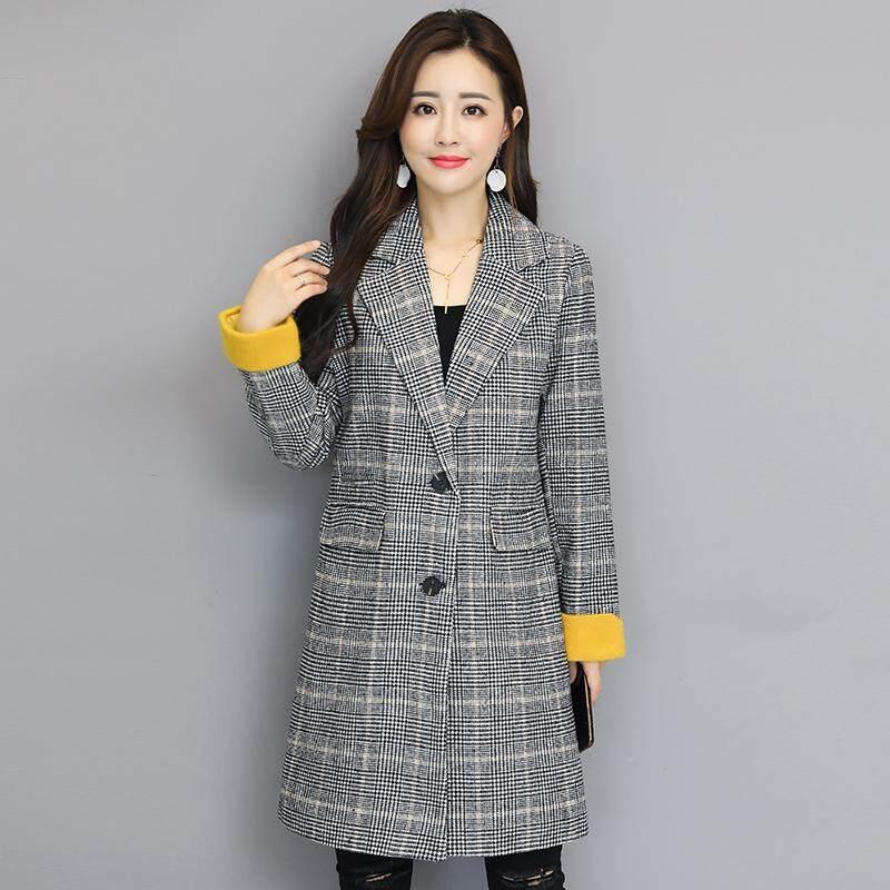 Wanita Jaket Parka Korea Fashion Style Wol Musim Gugur dan Musim Dingin Baru
