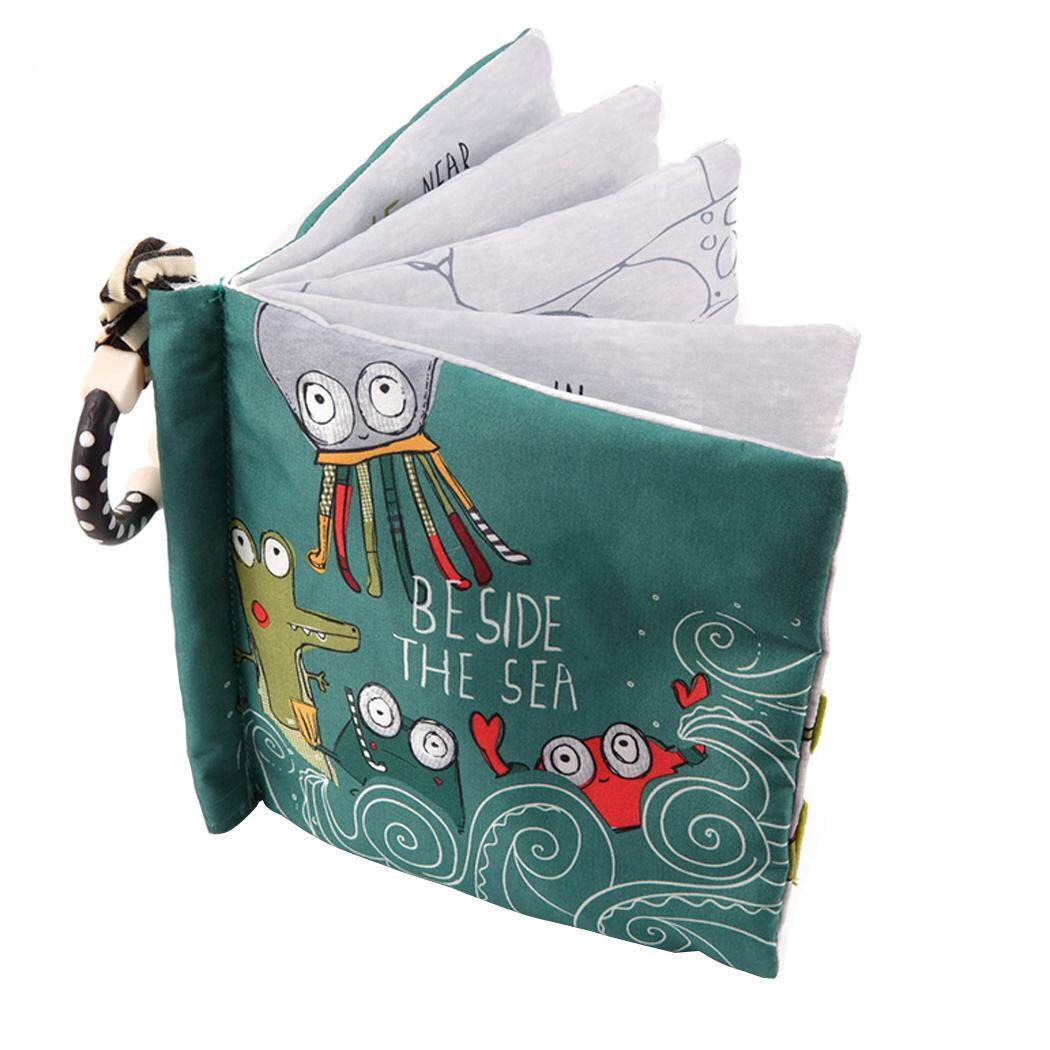 English Babies Books Malaysia Hey Baby My Frist Book Softbook Cloth Educational Beetle Octopus Fox Pattern Toy Soft For Infants