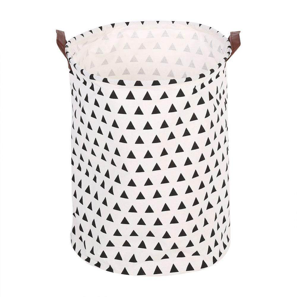 Foldable Standing Storage Bin Bag Kids Toy Clothes Laundry Basket Household Organizer #Triangle - intl