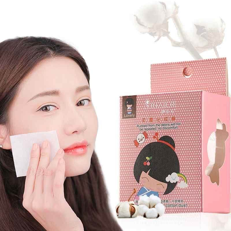 Yuero 100Pcs/Set Disposable Non-woven Fabric Makeup Cotton Wipes Soft Makeup Remover Pads Ultrathin Facial Cleansing Paper Mild Delicate Without Allergy Philippines