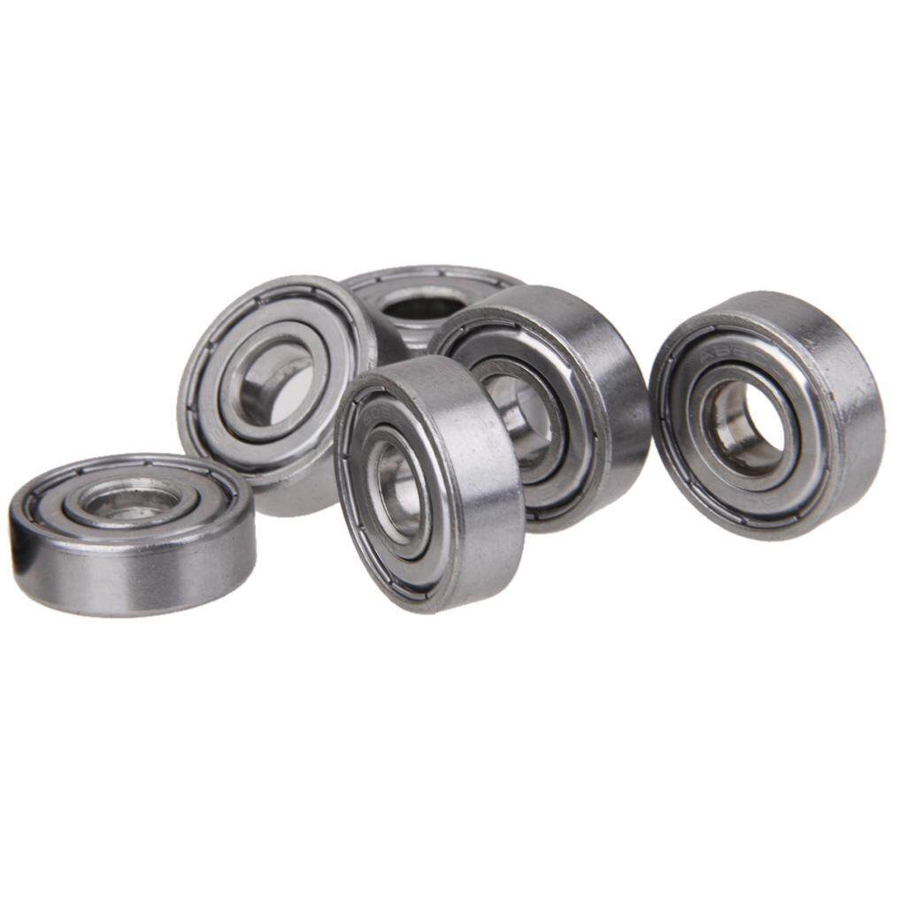 MagiDeal Lot 10Pcs Steel Ball Roller Bearings for Skateboard Scooter Wheels Silver