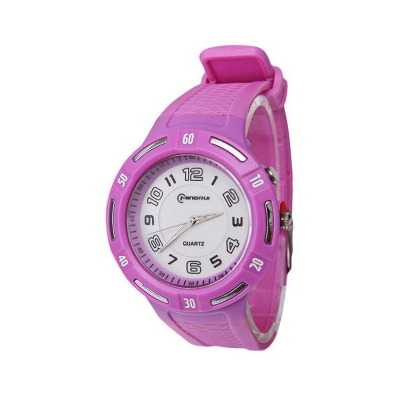 Comebuy Fashion Candy Color Quartz Pointer Sport Wrist Watch Night Light Function Students Kids Girls Boys Child Watches bán chạy