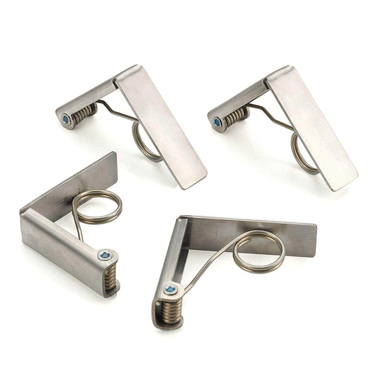 Endurance Stainless Steel Tablecloth Clips, Set of 4,Silver Free Shipping