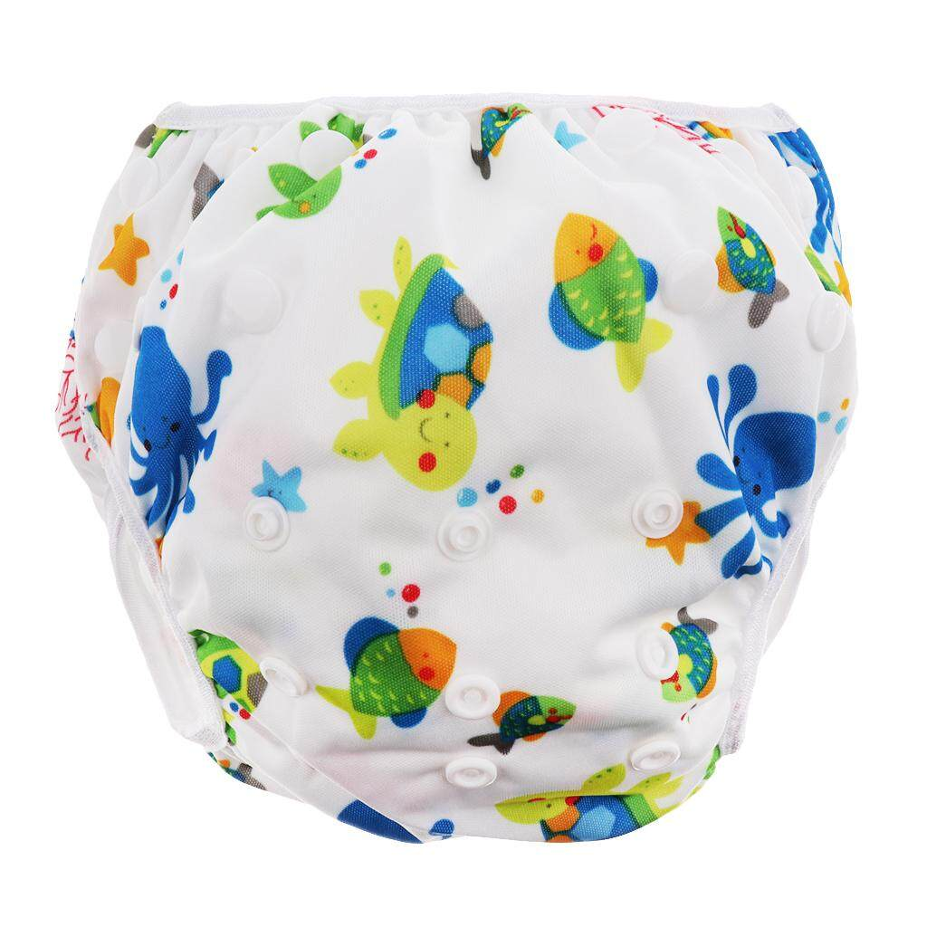 Magideal Swim Diaper Nappy Pants Reusable Adjustable Infant Baby Boy Girl Toddler Sea World - Intl By Magideal.
