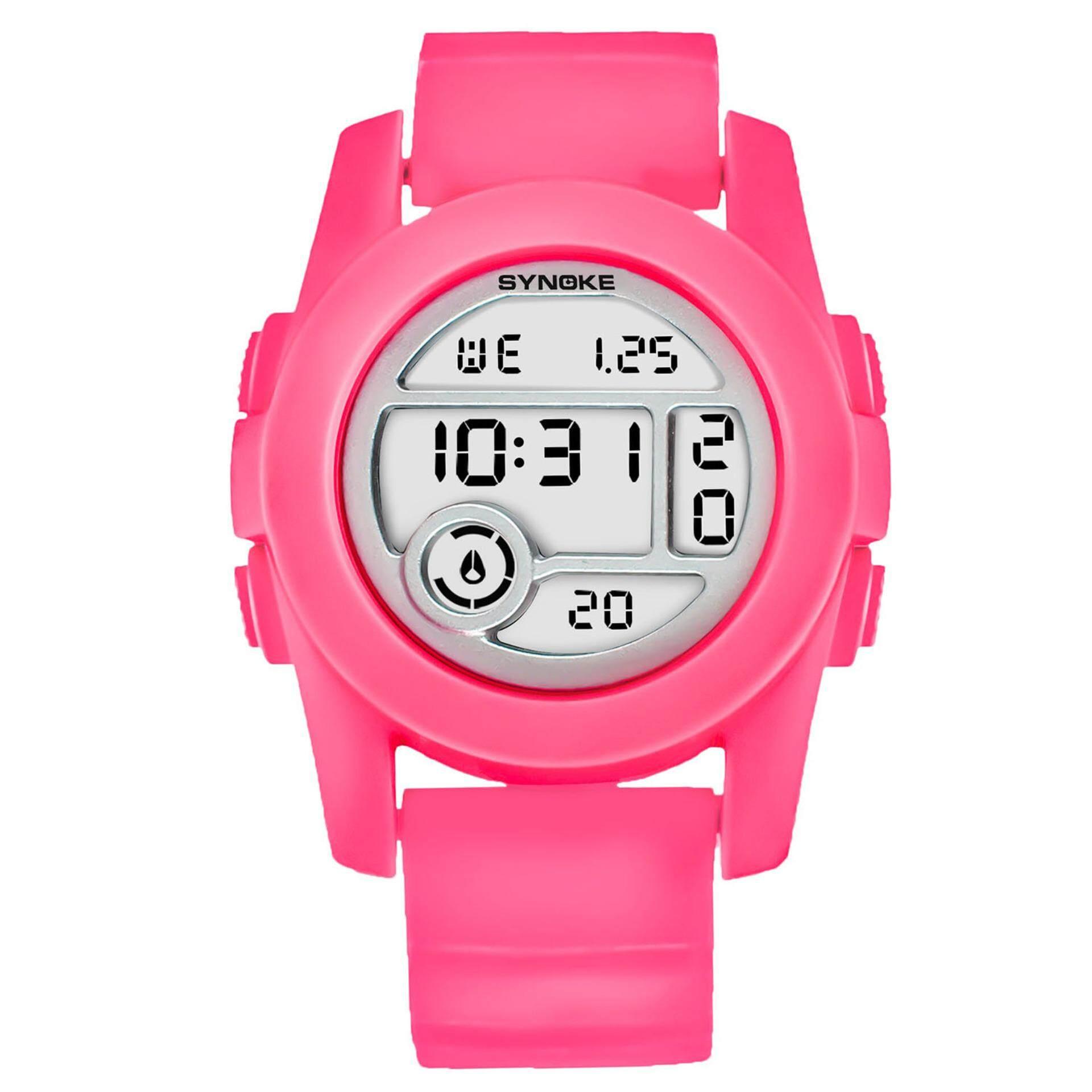 SYNOKE Women Lovers Digital LED Waterproof Outdoor Multifunctional Sports Quality Shockproof Digital Watchs 67286 - intl