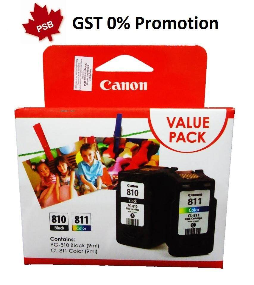 Features Canon 810 811 Original Value Pack Ink Cartridges Dan Harga Cartridge Cl Color Pg Set Black