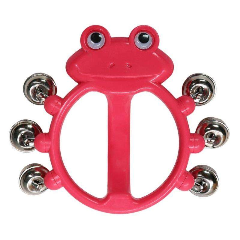 GOOD 2013-G6 Red Frog Rattle 6 Bells Bright Non-toxic Loud Sound Hand Grip Toys red