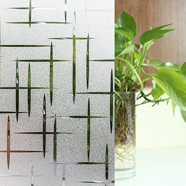 YORIEVER Privacy Window Film, Decorative, Frosted Glass Film, for Home,Hotel,