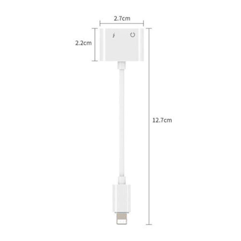 XE Dual Lightning Headphone Audio and Charge Adapter for iPhone X 8/8 Plus 7/7Plus