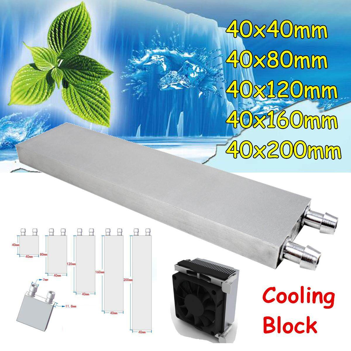 1 PCS Water Cooling Block Radiator Liquid Cooler Aluminum Heat Sink #40*80mm