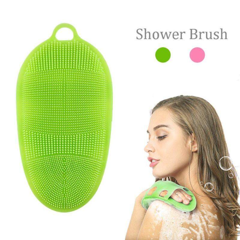Bumblebaa Silicone Mềm Cơ Thể Thân Bàn Chải Rửa Tắm Bao Tay Tắm Tẩy Tế Bào Chết Da SPA Massage Tẩy Rửa Mặt 100% Silicon Nguyên Chất Materia
