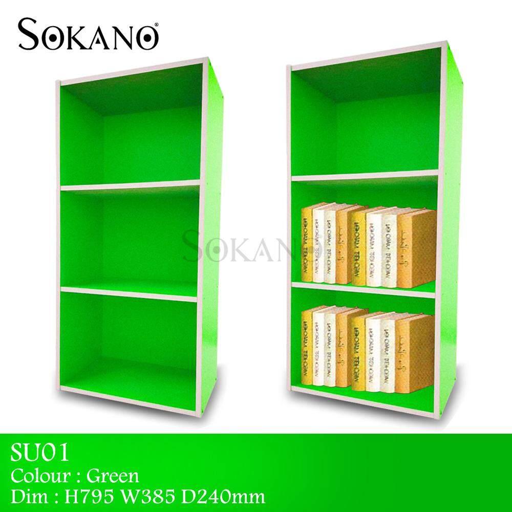 SU01 DIY 3 Tiers Wooden Utility Shelf and Book Shelf