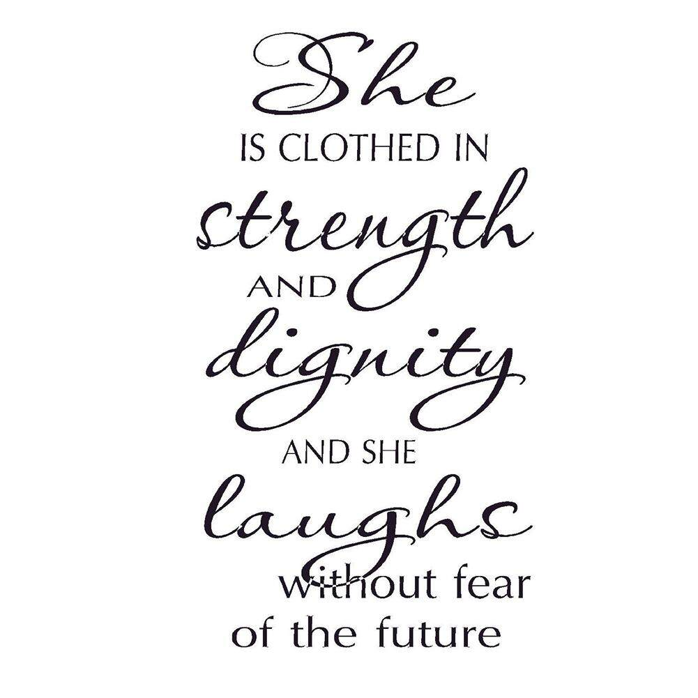 Buy Sell Cheapest Selis Dignity Fixie Best Quality Product Deals Youth Pvc Wall Art She Is Clothed In Strength Laughs Without Fear Of Future