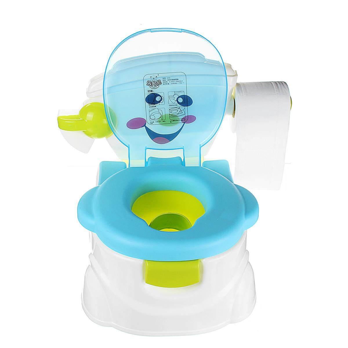 2 In 1 Musik Anak-anak Bayi Latihan Toilet Anak Balita Pelatih Toilet Kursi