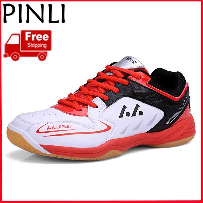 PINLI  Pengiriman Gratis  Wanita Berjaga-jaga Sepatu Bulu Tangkis  Profesional Olahraga Sepatu Cahaya 8c831ce3c7