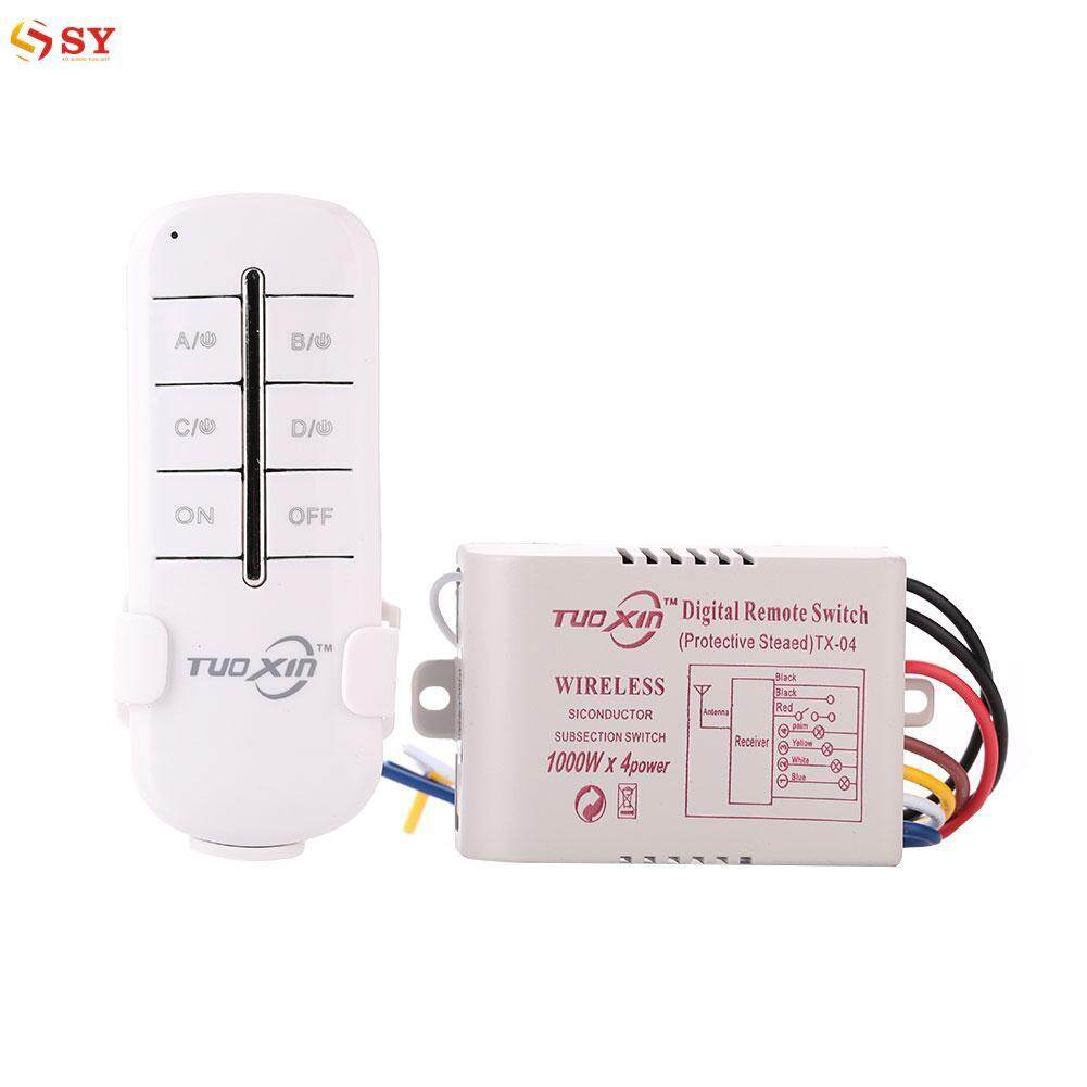 Features Cheer 220v 3 Way On Off Digital Rf Remote Control Switch Light So Young 4 Channel Efficient Wireless Lamp