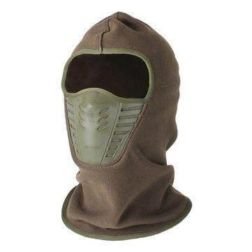 yunmiao Unisex Winter Neck Face Mask Warm Thermal Fleece Hat Ski Riding Hood Helmet Caps