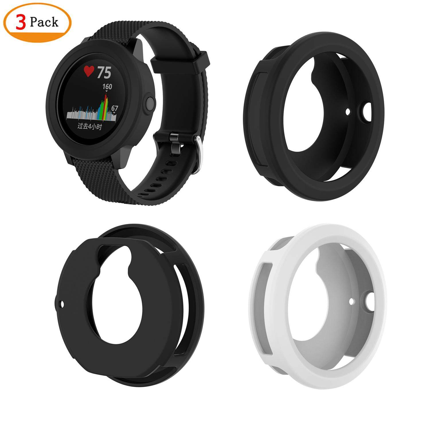 Shop Smartwatch Cases Buy At Best Price In Xiaomi Amazfit Pace 2 Stratos Cover Bumper Case Shell Frame Protector 3 Pack Silicone Screen For Garmin Vivoactive Watch