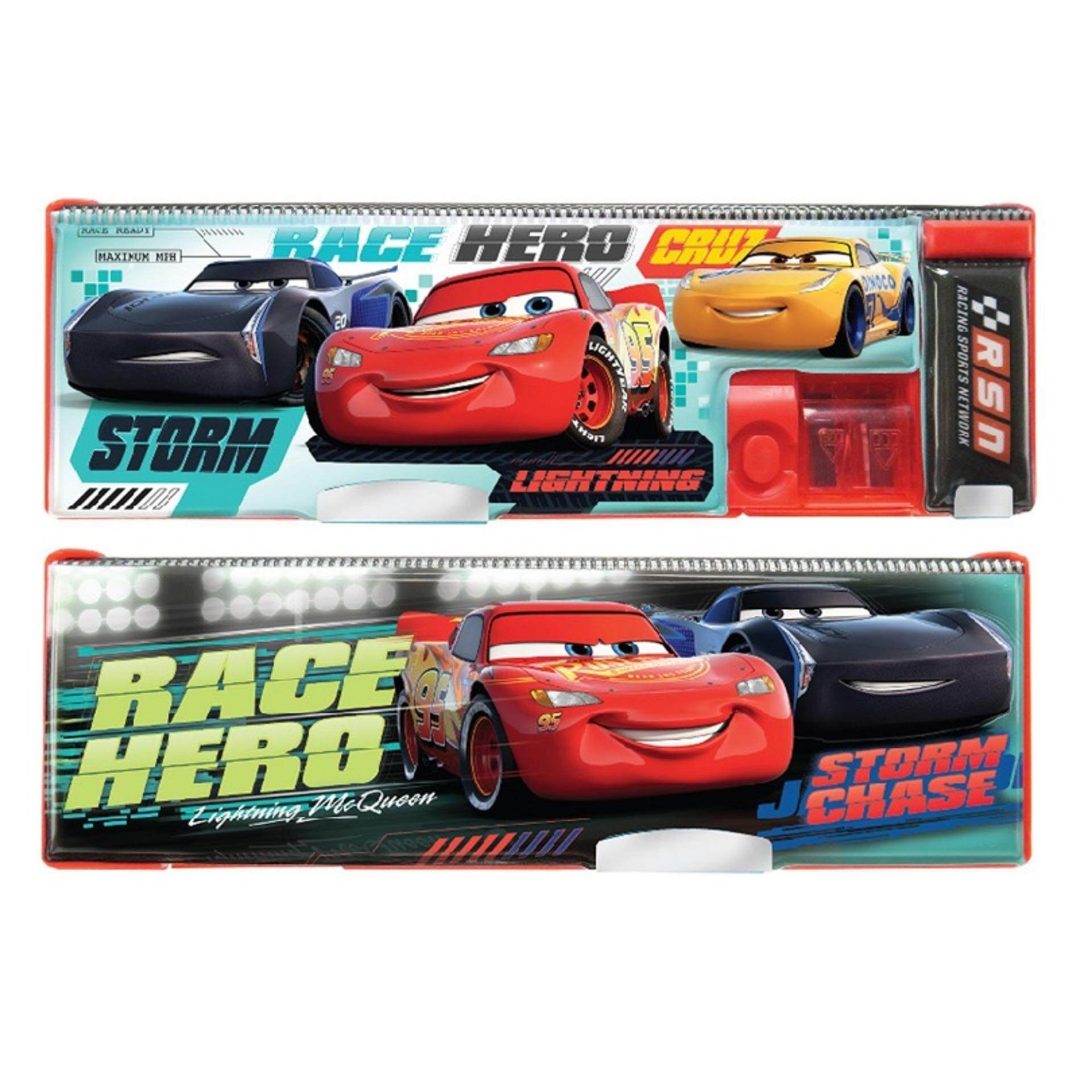 Disney Pixar Cars 3 Small Magnetic Pencil Case - Red Colour