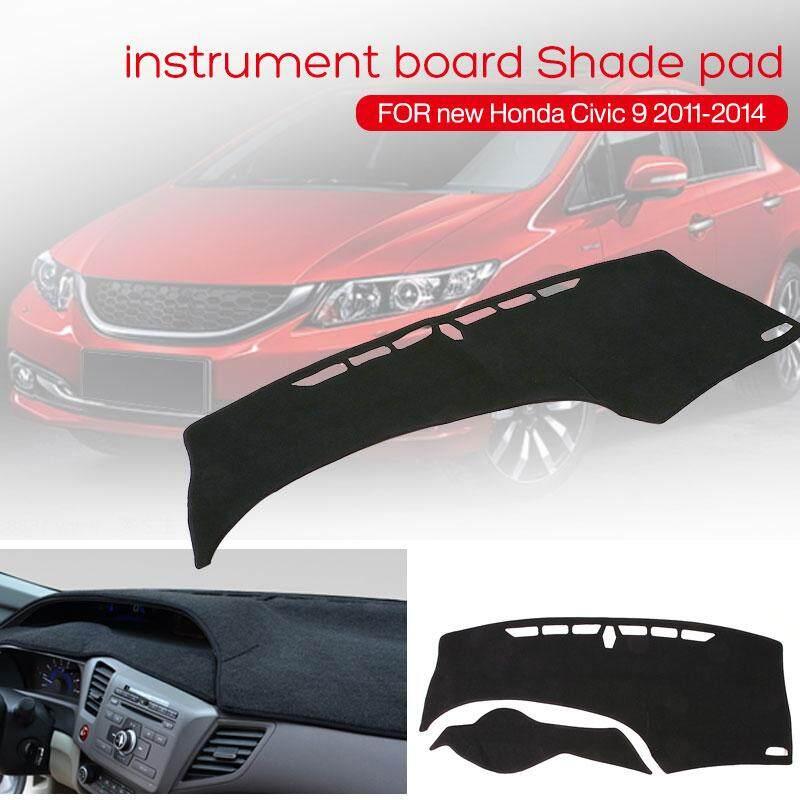 Qearl Shop Honda Civic 9th 2011 2014 Felt Fabric Silicone Slip Black Dash Parts