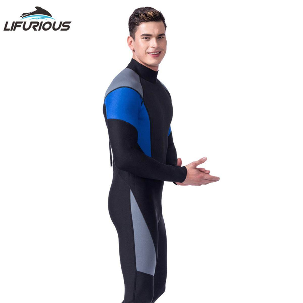 NEW Men Conjoined Diving Suit Neoprene Rubber 3mm Semi-dry Suit(Black) - bb923083f
