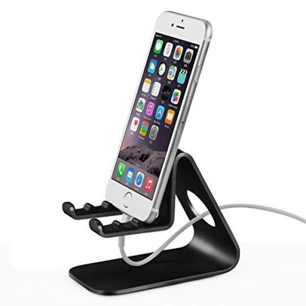Smartphone Cases Stands Cell Phone Stand, CROSS LINE Aluminum Desk Desktop Stand: Cradle, Holder, dock For Switch, all Android Smartphone, iPhone 5 6 6S 7 8 Plus iPhone X iPad charging, Accessories Desk (Black) - intl