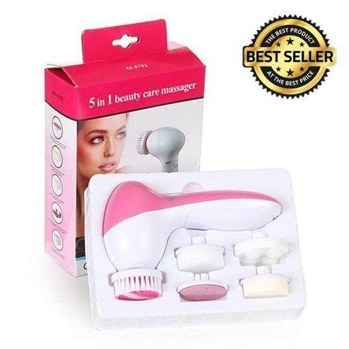 5 In 1 Body Face Skin Care Cleaning Wash Brush SPA Facial Beauty Relief Massager