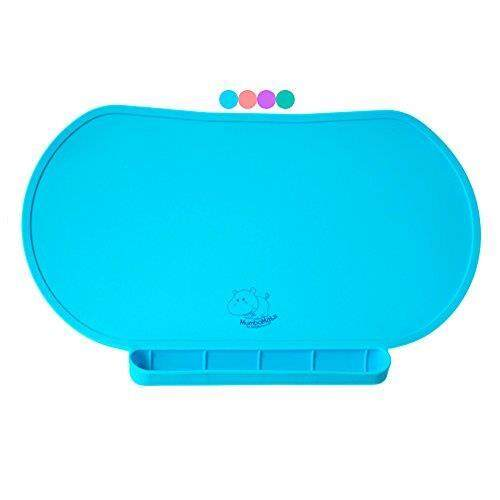 Responsible Giggle Burp Majestic Blue Suction Portable Placemat For Toddlers Toddler To To Feeding