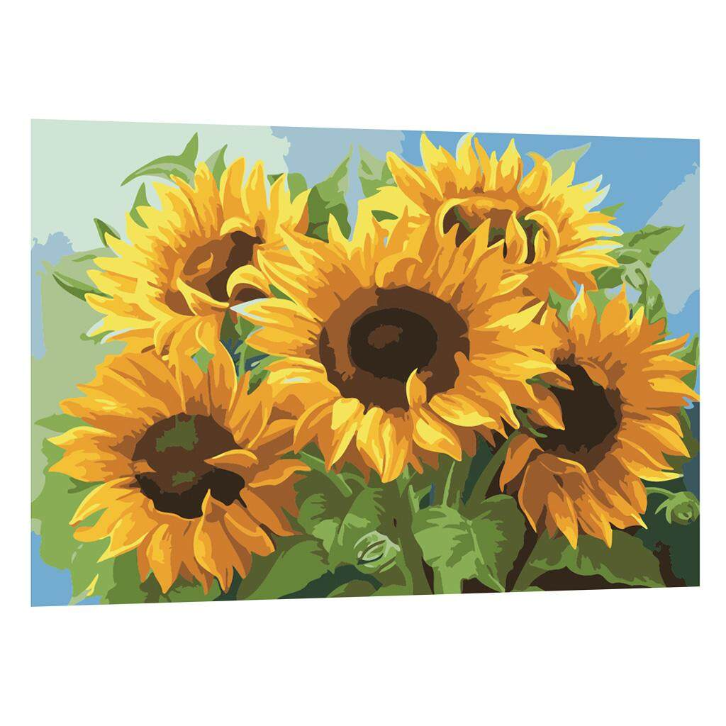 BolehDeals DIY Painting By Numbers Canvas Painting Art Picture Craft R085 Sunflower Philippines