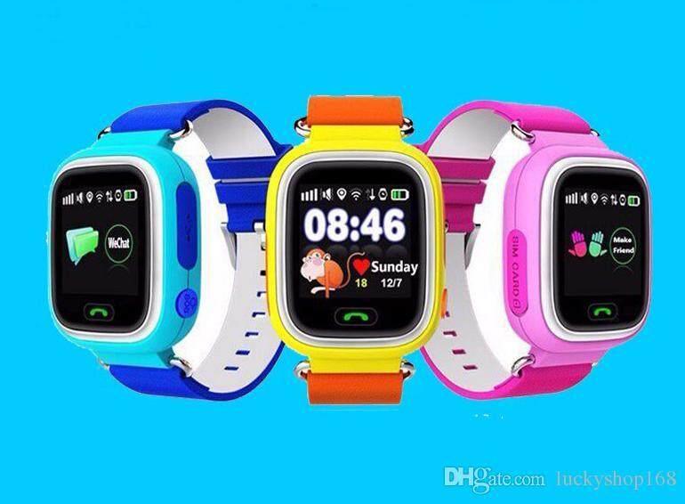 Baru GPS Murah Smartwatch Jam Bayi Q90 dengan Wi-fi Layar Sentuh Lokasi Panggilan SOS Devicetracker untuk Aman Anak Anti-Lost Monitor PKQ80 Q60 DHL -Intl