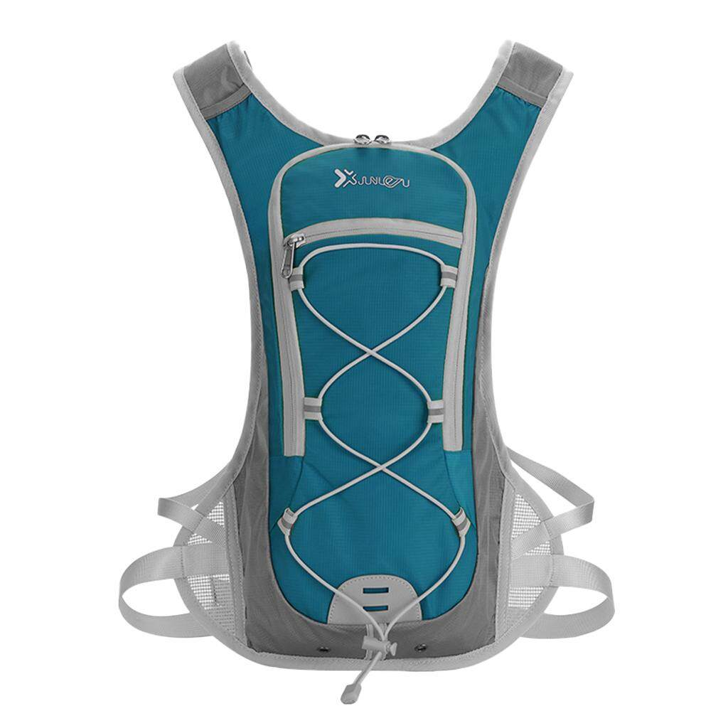MagiDeal 2L Water Backpack Hydration Pack Camping Water Bladder Bag Pouch Lake Blue