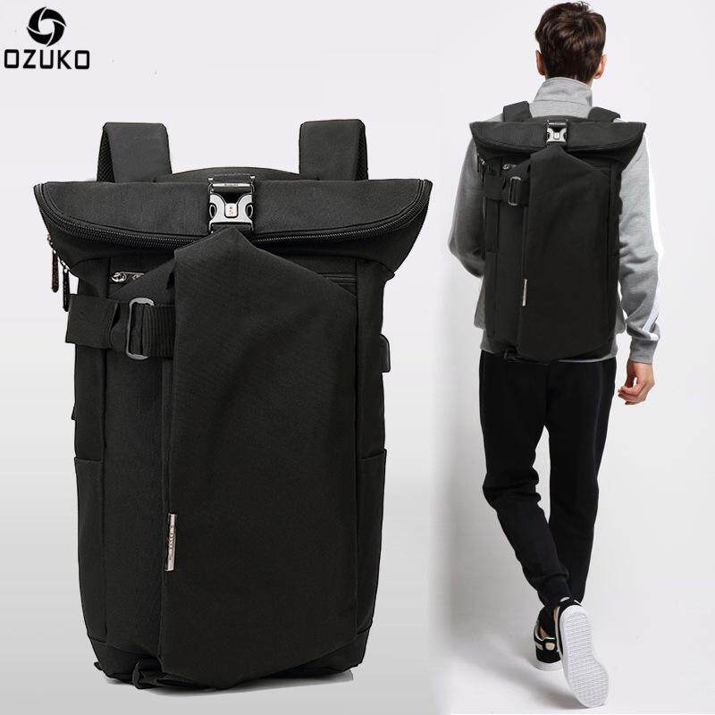 Ozuko Oxford Backpack Men's Fashion Personality Backpack Casual Usb Charging Travel Backpack