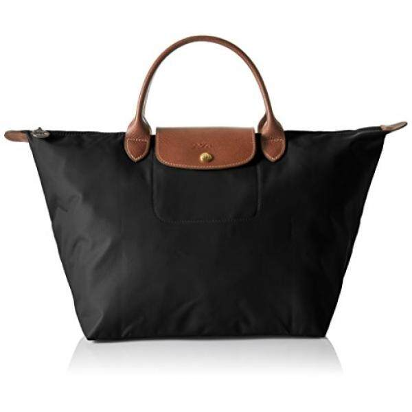 Longchamp Womens Le Pliage Medium Handbag, Black