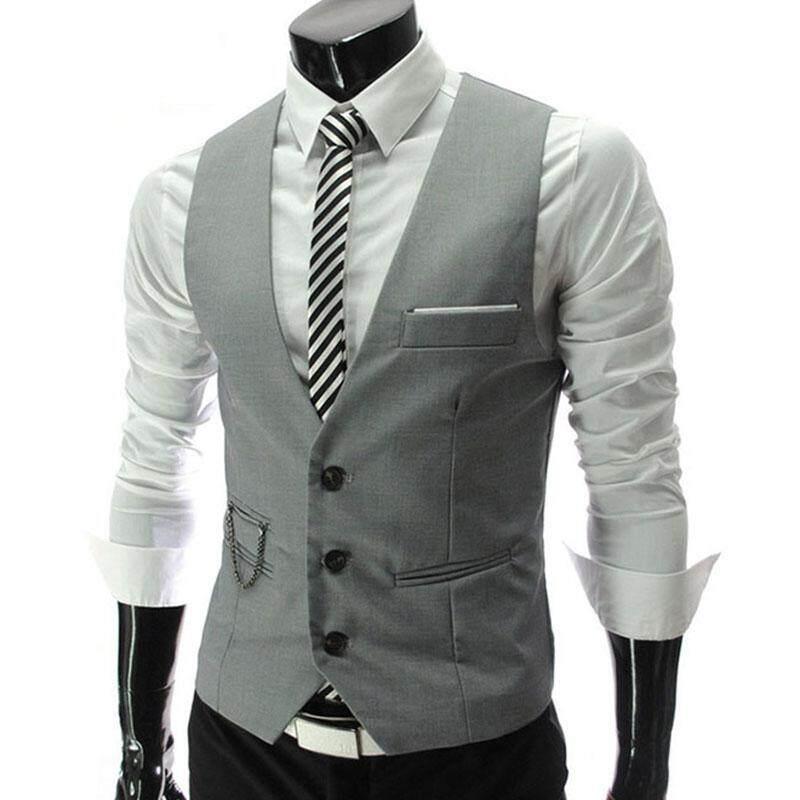 Korean-style Men's Suit Vest Slim Fit Suit Vest Spring and Autumn Thin Section Autumn