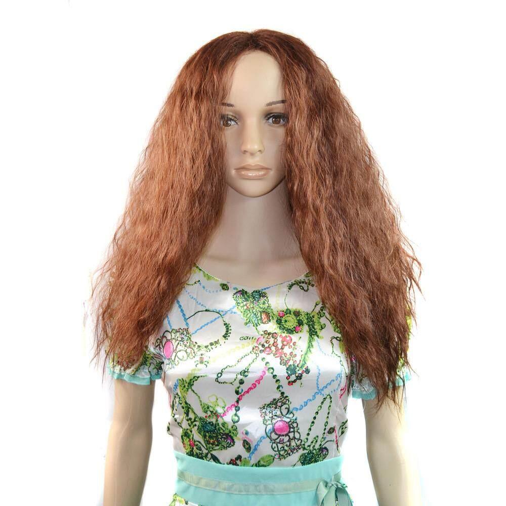 Kaya Mode untuk Wanita Wanita Bagian Tengah Gelombang Wig Rambut Keriting a6330d7a87