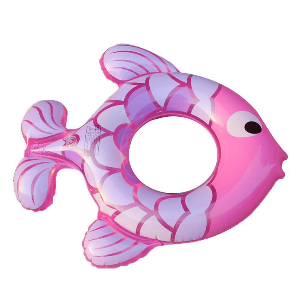Hình ảnh 1-5T Cute Kids Baby Cartoon Fish Shaped Inflatable Swimming Ring Float Seat - intl