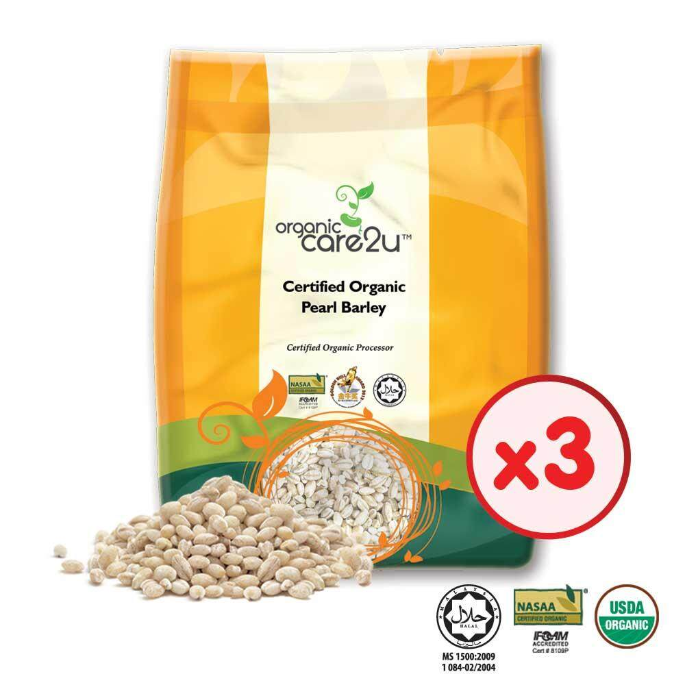 Organic Care2u Organic Pearl Barley (400g) - [Bundle of 3]
