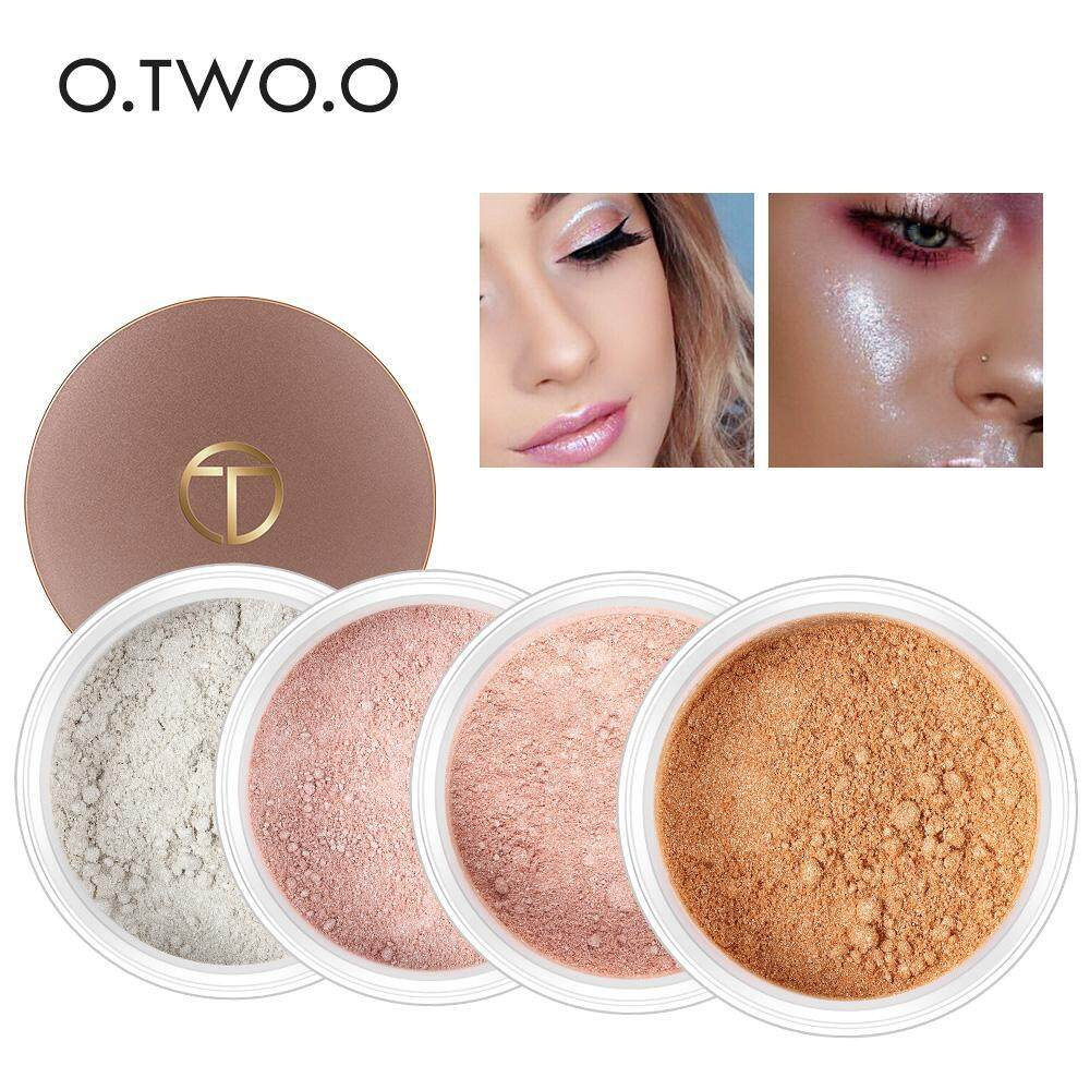 O 4 Colors Highlighter Face Powder Highlight Shading Powder Cosmetics Contour Palette ...