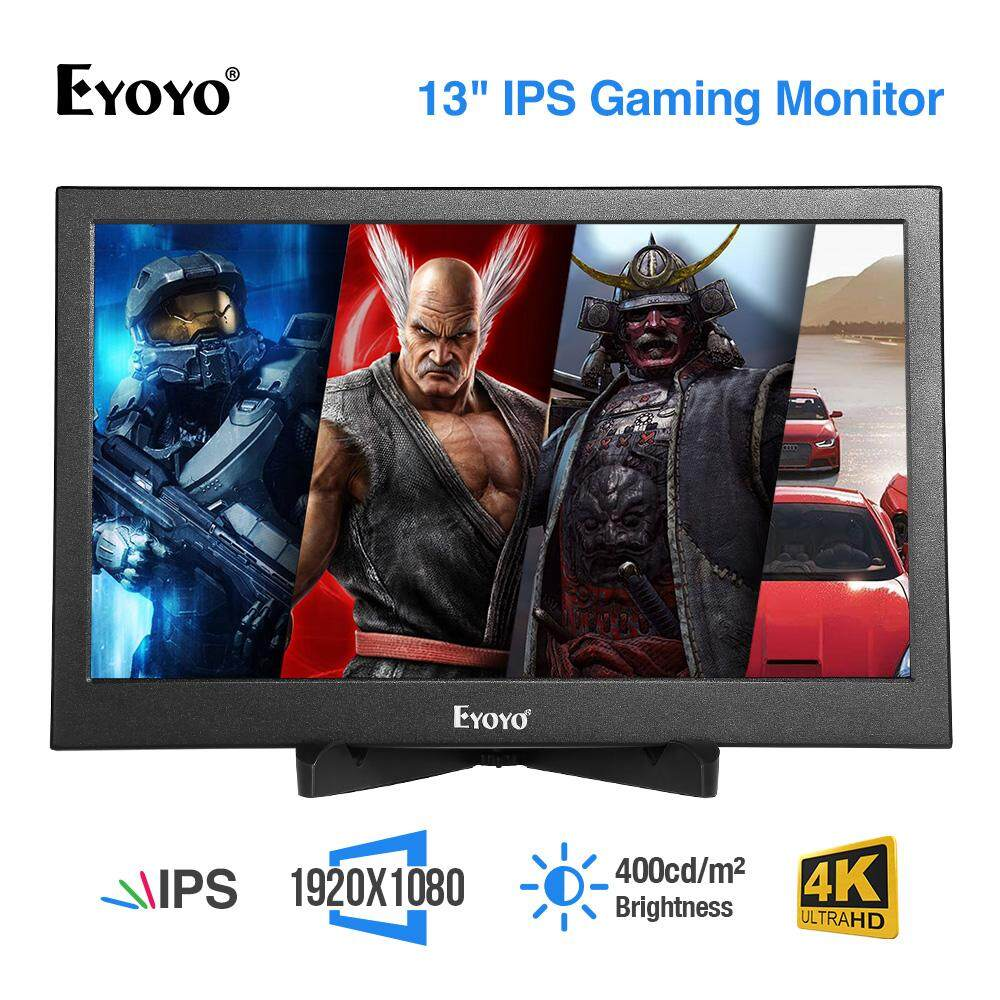 Eyoyo 13 3 Inch Portable Gaming Monitor IPS Dual HDMI Display Raspberry Pi  Screen 1920x1080 Resolution Support 4K HDMI Input W/Built-in Speakers For